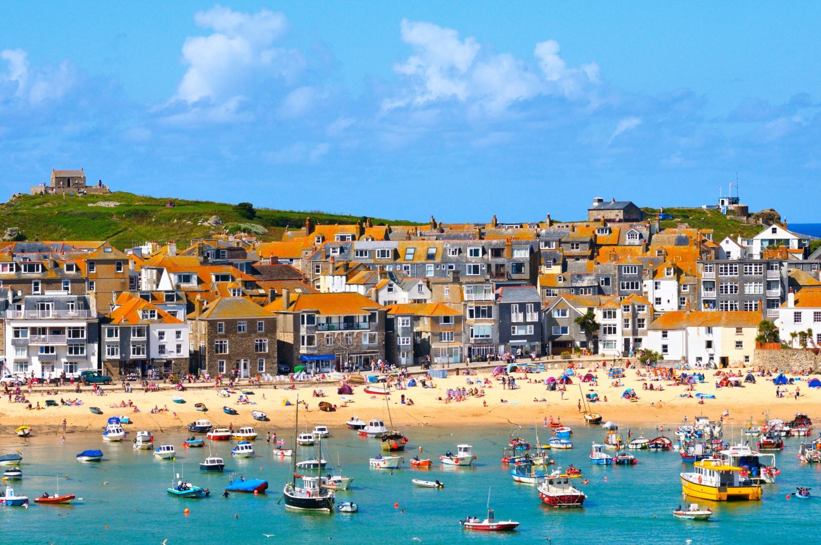 Family-friendly beaches in St Ives Bay