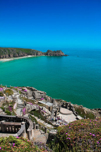 View of the Minack Theatre
