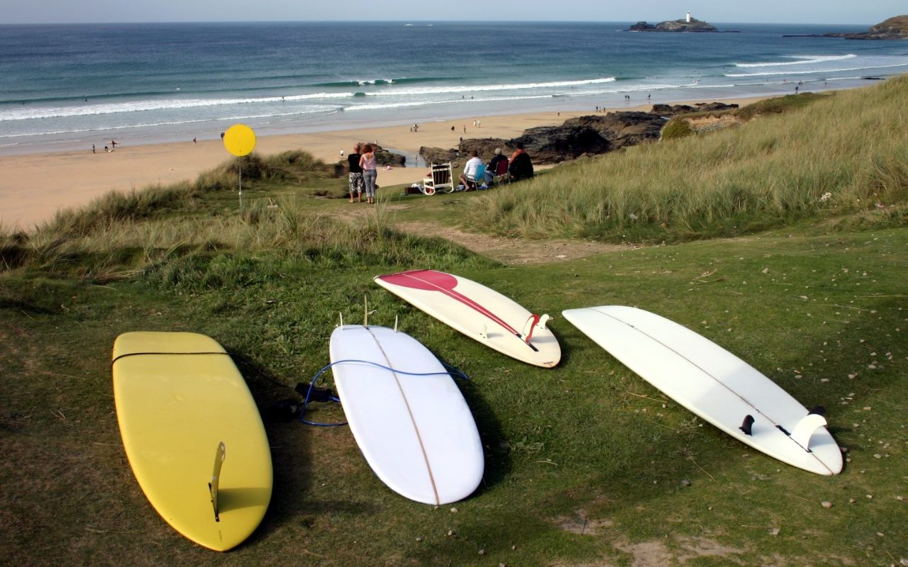 Surfing at Godrevy