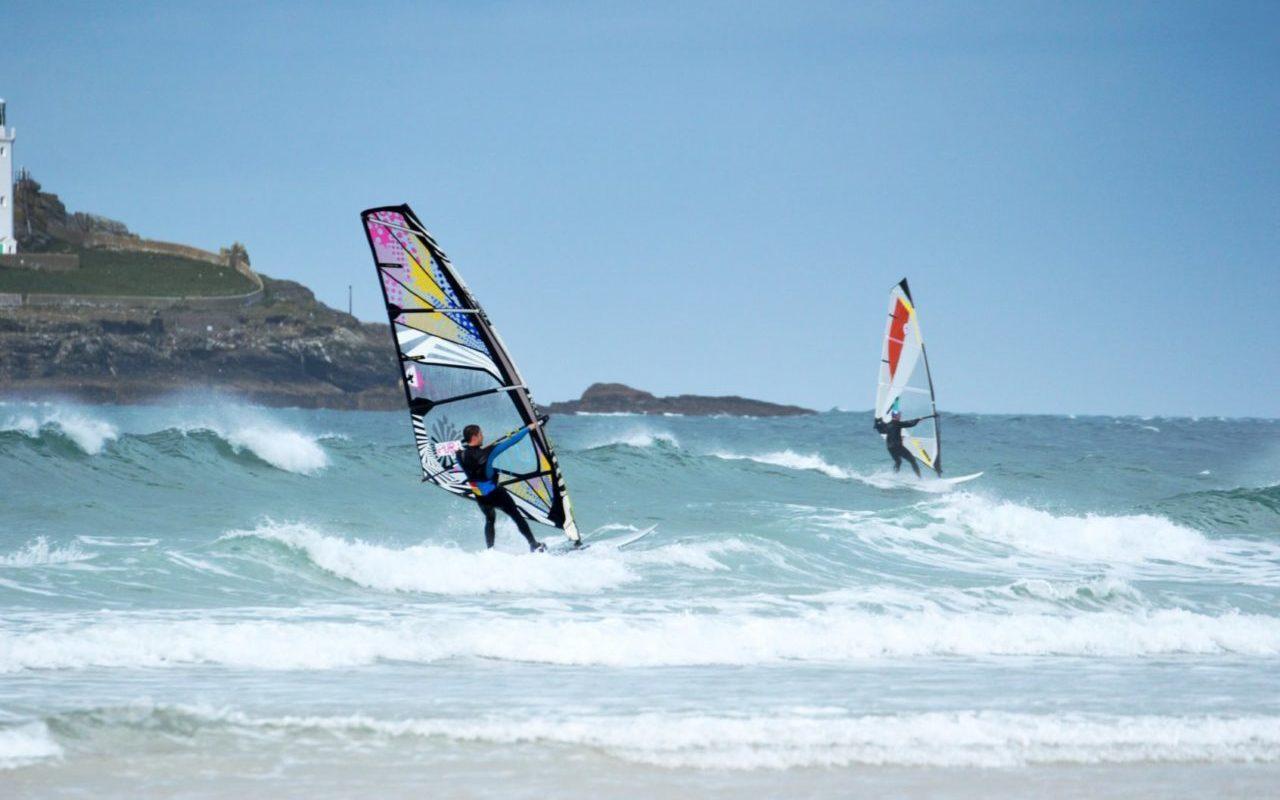 Windsurfing Godrevy Lighthouse