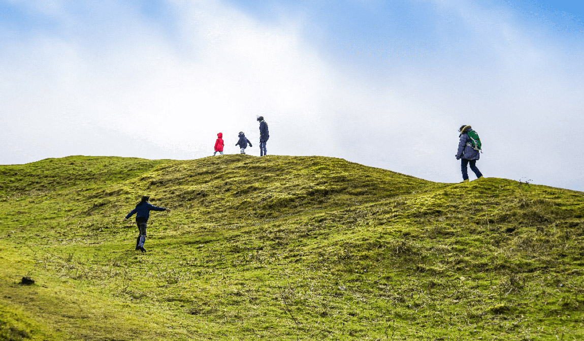 Family walk in Cornwall